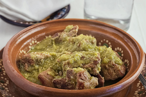 Pork Ribs in Green Salsa